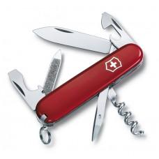 VICTORINOX kapesní nůž SPORTSMAN červený s kroužkem na klíče