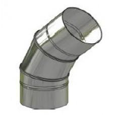 Koleno nerez regulovatelné ø 150 mm / 0 - 45° 3-segm