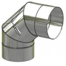 Koleno nerez stálé ø 130 mm / 90° s čistícím otvorem