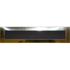 Krbová mřížka 110 x 430 lěštěný mosaz PROBEX