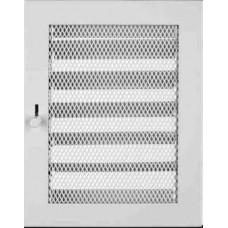 Krbová mřížka 190 x 350 bílá s žaluzií PROBEX