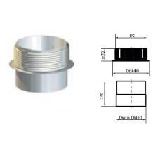 Redukce pro přípojení do keramického komínu 200/200mm NEREZ